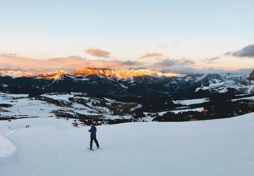 Dolomites winter